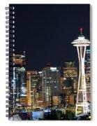 Seattle Night Sky Spiral Notebook