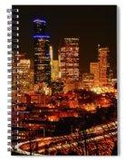 Seattle Night Traffic Spiral Notebook