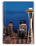 Seattle Skyline Spiral Notebook