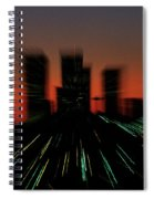 Seattle Skyline Motion Spiral Notebook