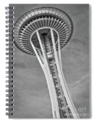 Seattle Space Needle Bw Spiral Notebook