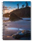 Second Beach Sunset Spiral Notebook