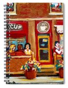 Second Cup Coffee Shop Spiral Notebook