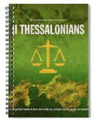 Second Thessalonians Books Of The Bible Series New Testament Minimal Poster Art Number 14 Spiral Notebook