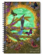 Secret Butterfly Garden Spiral Notebook