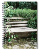 Secret Garden Bench Spiral Notebook