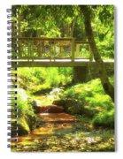 Secret Garden Bridge Spiral Notebook