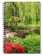 Secret Garden Pond Spiral Notebook