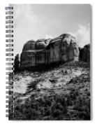 Sedona In Black And White Spiral Notebook
