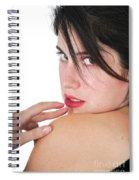 Seductive Woman Spiral Notebook