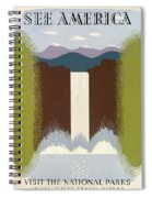 See America Poster, C1937 Spiral Notebook