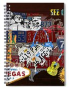 See The Usa Vintage Travel Map Recycled License Plate Art Of American Landmarks Spiral Notebook