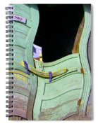 See-through Green And Red Doors Spiral Notebook