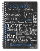 Seeger Lake House Rules Spiral Notebook