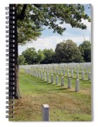 Seeing The Air Force Memorial From Arlington National Cemetery Spiral Notebook