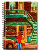 Segal's Fruit And Variety Store Spiral Notebook