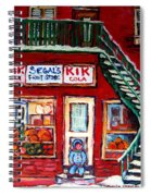 Segal's Market St.lawrence Boulevard Montreal Spiral Notebook