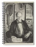 Self-portrait, First State By George Bellows 1882-1925 Spiral Notebook