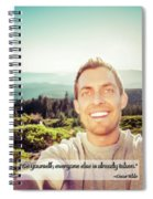 Self Portrait From A Mountain Top Spiral Notebook