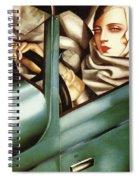 Self Portrait In A Green Bugatti Spiral Notebook
