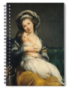 Self Portrait In A Turban With Her Child Spiral Notebook