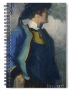 Self-portrait In Bretonnian Garb Spiral Notebook
