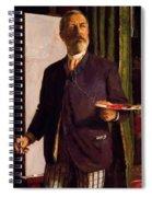 Self Portrait In Studio 1893 Spiral Notebook