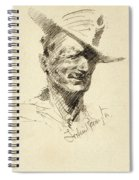 Self Portrait Of Frederic Remington Spiral Notebook