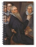 Self Portrait Of The Painter And His Family Spiral Notebook