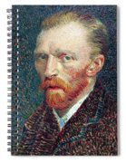 Self Portrait Vincent Van Gogh Spiral Notebook