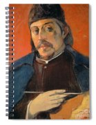 Self Portrait With A Palette Spiral Notebook