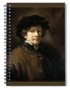 Self Portrait With Cap And Gold Chain Rembrandt Harmenszoon Van Rijn Spiral Notebook