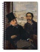 Self Portrait With Evariste De Valernes Spiral Notebook