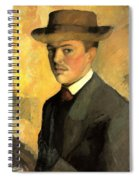 Self Portrait With Hat Spiral Notebook