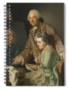 Self-portrait With His Wife Marie-suzanne Giroust Spiral Notebook