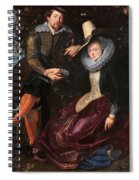 Self Portrait With Isabella Brandt, His First Wife, In The Honey Spiral Notebook