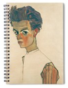 Self-portrait With Striped Shirt Spiral Notebook