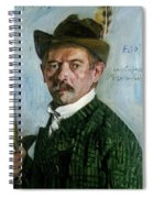Self Portrait With Tyrolean Hat Spiral Notebook