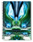 Self Reflection - Blue Green Spiral Notebook