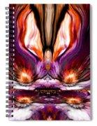 Self Reflection - Purple Orange Spiral Notebook