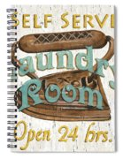 Self Serve Laundry Spiral Notebook