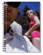 Selfie With Pink Bikini Girl Spiral Notebook