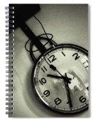 Selfportrait On A Clock Spiral Notebook