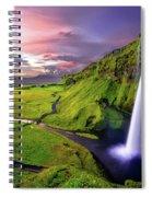 Seljalandsfoss Waterfall Spiral Notebook