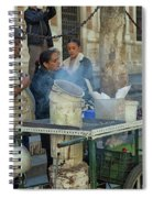 Selling And Roasting Chestnuts Spiral Notebook