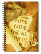 Selling The News Spiral Notebook