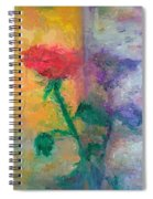 Semi Abstract Flowers#1 Spiral Notebook