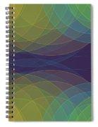 Semi Circle Background Horizontal Spiral Notebook