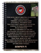 Semper Fi To The 1st Man Down In Iraqi Freedom Plaque Spiral Notebook