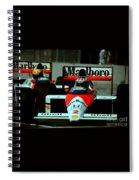 Senna Chasing Prost ... Spiral Notebook